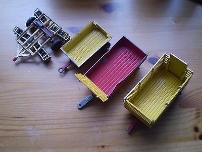 4  X Corgi Toys Farm Trailers-- Unboxed-- In Poor Condition