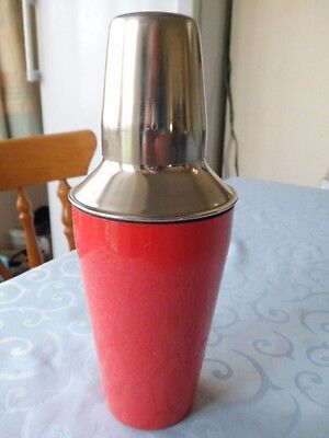 Super New Red Stainless Steel Cocktail Shaker Mixer Drink Barman Party Bar Wine