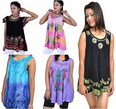 Wevez 10 Pcs pack of Mix Designs Summer Rayon Tops
