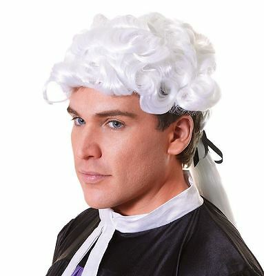 White Court Wig Black Bow 20'S Barrister Lawyer Fancy Dress [Toy] Bristol Nov...