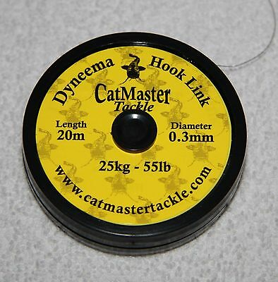Catmaster NEW Catfish Fishing Dyneema Braided Hooklink *All Breaking Strains*