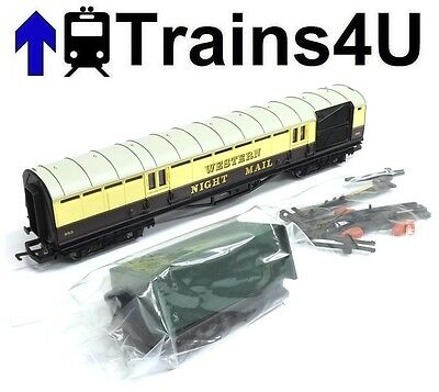 Hornby GWR Night Mail Coach With Operating Mail Bags (OO Scale) Unboxed New