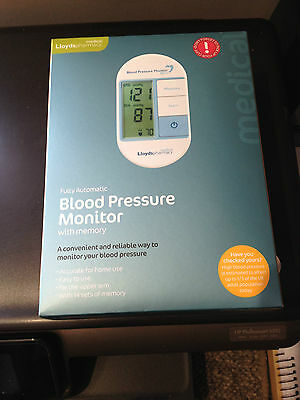 Lloyds Automatic Blood Pressure Monitor with memory BNIB and sealed
