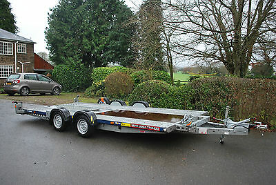 """Brian James C4 Blue Car Transporter Trailer (16ft x 6ft 6"""") Race Rally Recovery"""