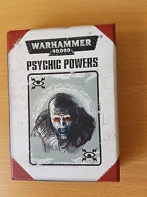 Warhammer 40k Psychic Power Cards 7th Edition OOP