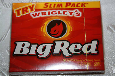 2 x USA BIG RED Cinnamon Flavored Chewing Gum 15 sticks each