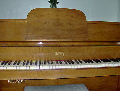 Berry upright piano with stool