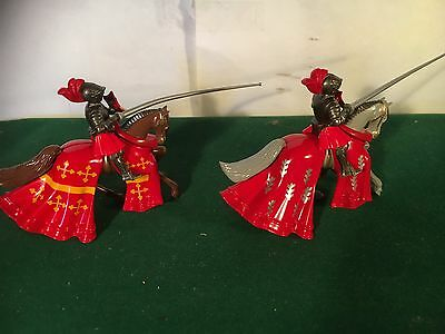 Britains Mounted Knights Of Agincourt X2