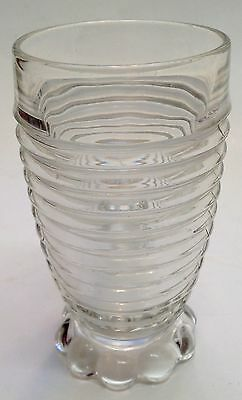 Elegant Depression Glasss Original Manhattan Footed 10 Oz.crystal Tumbler