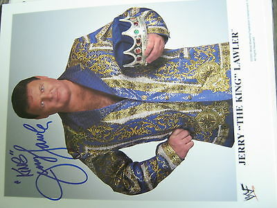 Jerry The KING Lawler AUTOGRAMM AUTOGRAPH WWE Original Promo Photo 8x10  WWF