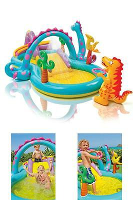 Dinoland Inflatable Play Center Swimming Pool For Kids Outdoor Water Fun Play
