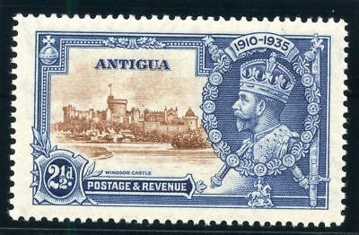Antigua 1935 KGV Silver Jubilee 2½d DOT TO LEFT OF CHAPEL variety MLH. SG 93g