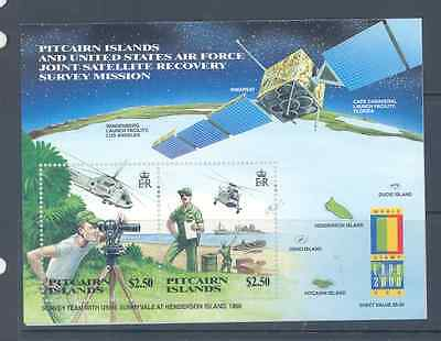 Pitcairn Island 2000 Satellite Recovery/stamp Expo Minisheet Superb Mnh