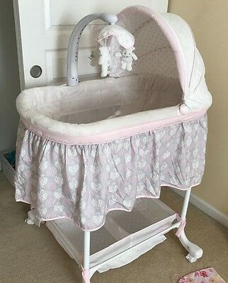 Simmons Kids Lucia Deluxe Gliding Baby Bassinet