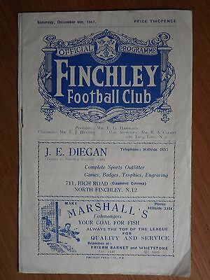 FINCHLEY Reserves v BARKING Reserves 1947-1948 Athenian League