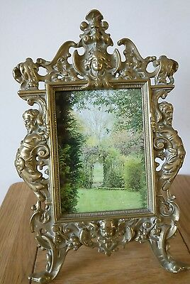 Antique Victorian free standing Photo Frame Ornate Cast Iron