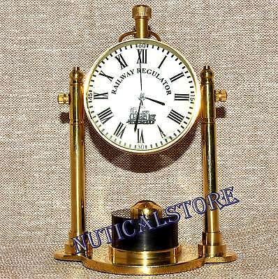 Brass Table Desk Watch Vintage Clock Table Clock Glass Table Watch Clock