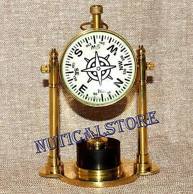 Polish-Brass-Table-Decore-Watch-Desktop-Nautical-Clock