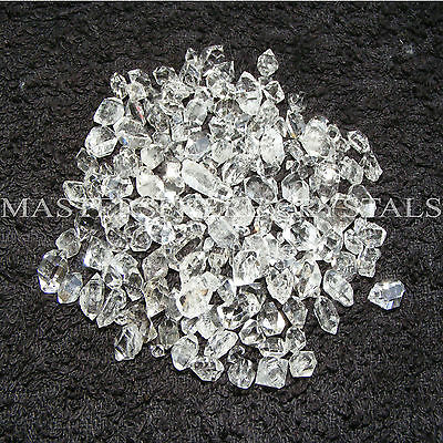 12 x Herkimer Quartz Crystal Diamonds 1mm-6mm Genuine from New York Natural