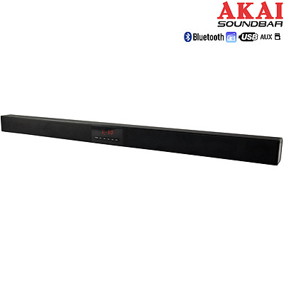 Soundbar Surround Stereo Home Cinema Bluetooth Wireless Usb Lcd + Telecomando