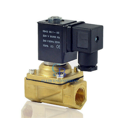 "AC 110V G1/2"" Brass Electric Solenoid Valve Switch Water Air Normally Closed N/C"