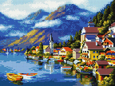 Diamond Painting Set Holzrahmen Bild 30x40 Diamant Malerei Stickerei Malen EJ268