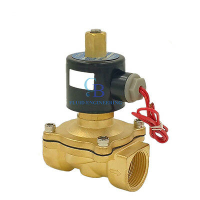 "G1/2"" N/O 110V AC Brass Electric Solenoid Valve Water Gas Air Normally Open Type"