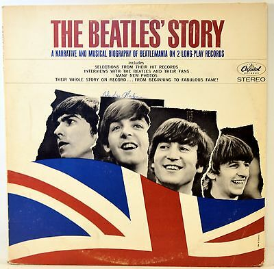 The Beatles' Story Biography of Beatlemania Vinyl 2 LP Capitol STBO-2222