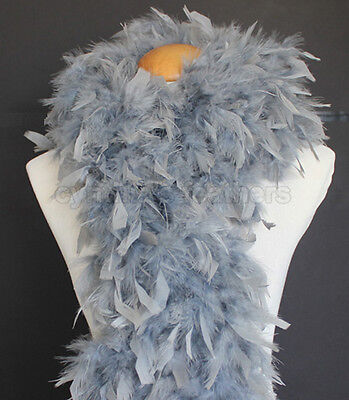 Silver Grey 80 Grams Chandelle Feather Boa Dance Party Halloween Costume