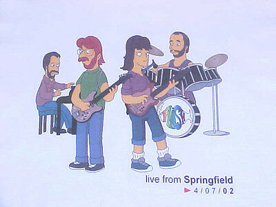 Phish as SIMPSONS T-SHIRT Trey Mike Page Jon MUST SEE Homer, Marge, Bart, Lisa