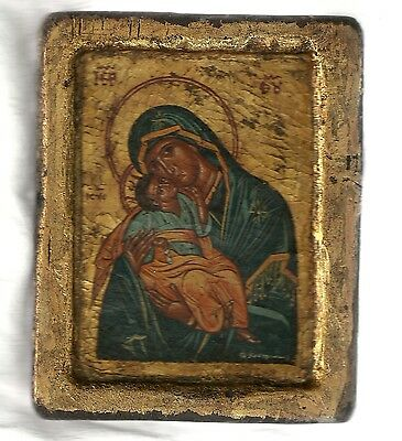 Russian Icon - Virgin Mary and Child