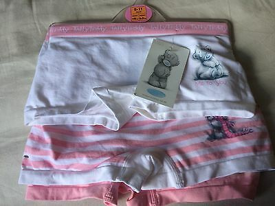 BNWT £11 M&S Girls 3 Pack Shorts Briefs Knickers Pants Tatty Teddy 9 - 10 Years