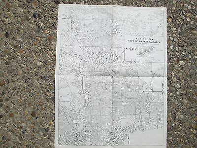 Antique map from 1948 of Pasadena CA. showing the Rose Bowl and surrounding area
