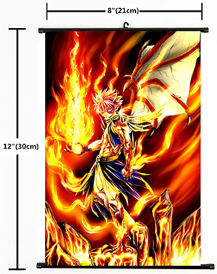 "Hot Japan Anime Fairy Tail Natsu Home Decor Poster Wall Scroll 8""×12"" 04"