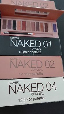 """12 Couleurs NAKED 1""""2""""4"""" Make-up  Eye shadow Palette avec Pinceaux"""