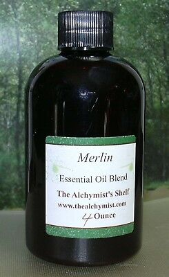 Merlin Essential Oil 4 Oz Wiccan Craft Pagan Altar Ritual Spell Special
