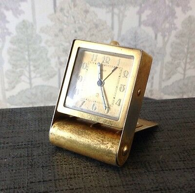 Jaeger 2 Fab 2 Day Suisse Vintage Alarm Travel Clock For Restoration Spare Parts