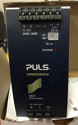 PULS DIMENSION QS10.241 POWER SUPPLY, 24vdc, 240W/360W, New