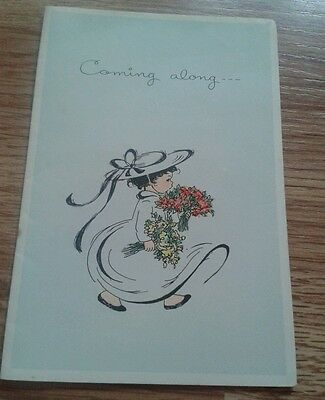 Vintage birthday card or party acceptance.  Made in England by Sharpes