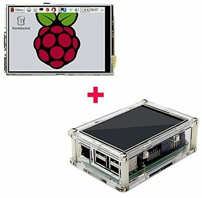 3.5 Inch LCD Touch Screen Kit Transparent Case Raspberry Pi 2 3 Model B Part