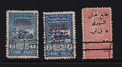 Syria - 3 Postal Tax stamps, cat. $ 92.50
