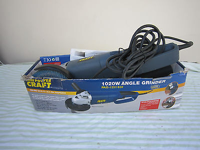 Craft Angle Grinder,pag-125/1020 With Wheels,disks,brishes,little Used,good.