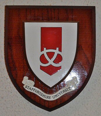 Staffordshire University plaque shield crest coat of arms college
