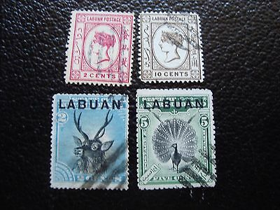 LABUAN - 4 timbres obliteres (A03) stamp