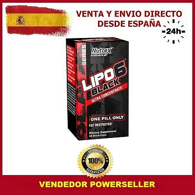 LIPO 6 BLACK ULTRA CONCENTRATE NUTREX  60 Caps  QUEMAGRASAS TERMOGENICO