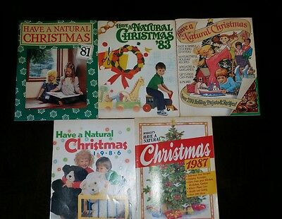 5 vintage have a natural christmas craft books