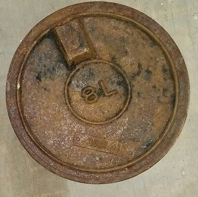 OLD cast iron wood stove 8 inch cover plate