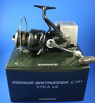 Shimano Medium Baitrunner CI4+ XTR-A Long Cast // MBTRCI4XTRALC //  Fishing Reel