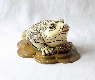 Vintage Chinese Feng Shui Three Legged Toad, Money Frog. Signed To The Base.