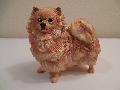2002 EEGG Ltd BFA (Border Fine Arts) Sculptured Resin Pomeranian Dog Figurine